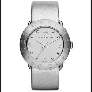 Amy tonal metallic leather strap watch 365mm
